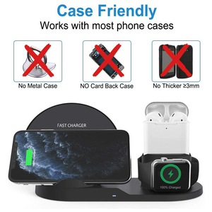 Image 4 - Draadloze Oplader Qi 10W 3 In 1 Wireless Charging Stand Dock Station Voor Airpods Pro Iphone 11 Pro Max xr 8 X Apple Horloge 5 4 3 2