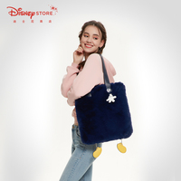 New Disney Fashion Mickey Cartoon Bag Large Capacity Plush Tote Bag Women Shoulder Bag Festival Gifts