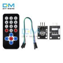 HX1838 Drahtlose IR Empfänger Modul Infrarot Fernbedienung Modul DIY Kit Für Arduino FÜR Raspberry Pi CR2025 Expansion board