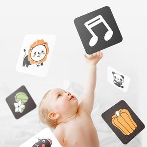Image 3 - TUMAMA חזותי גירוי כרטיסי עם חיות כרטיסיות עבור 0 36 חודשים שחור לבן פלאש כרטיסי חידות תינוקות למידה כרטיס