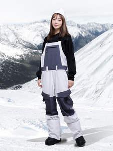 Jumpsuit Ski-Pants Warm-Trousers Waterproof Winter Men Pocket Ski-Clothing SPATA One-Piece