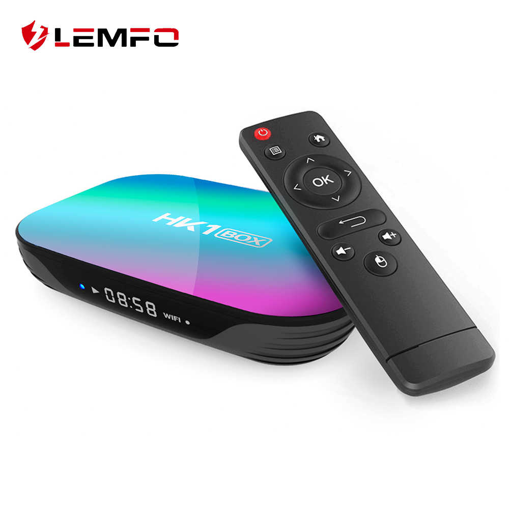 LEMFO HK1 S905X3 Smart TV Box Android 9.0 4GB 128G Support 8K USB 3.0 1000M Google Play Youtube lecteur multimédia décodeur