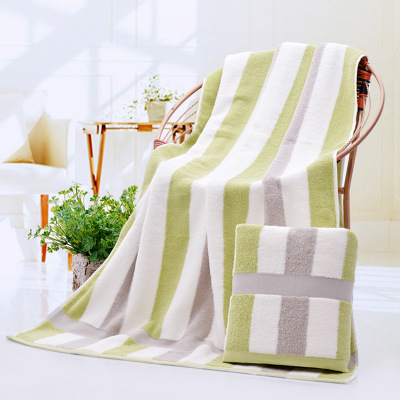Fashion stripe Cotton Bath Towels Bathroom for adults Sheets Men Women Hotel spa Large Towel Super