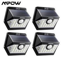 MPOW 30 LED الشمسية حديقة محس حركة مصابيح خارجية خفيفة 3 طرق الإضاءة 270 زاوية واسعة مقاوم للماء لوز الشمسية Led الفقرة الخارجية