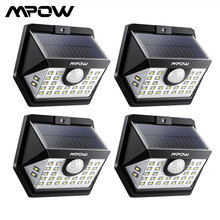 MPOW 30 LED Solar Garden Motion Sensor Light Outdoor Lamp 3 Lighting Modes 270 Wide angle Waterproof Luz Solar Led Para Exterior