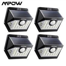MPOW 30 светодиодный светильник с датчиком движения на солнечной батарее, уличный светильник, 3 режима освещения, 270 широкоугольный Водонепроницаемый светодиодный светильник на солнечной батарее