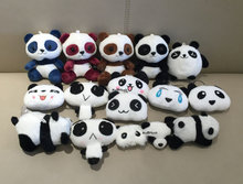 multi-sizes , NEW - Lover Panda 3-10CM Plush Stuffed Toys - key chain ring Pendant Plush Toys , Wedding Gift Panda Plush Toy(China)