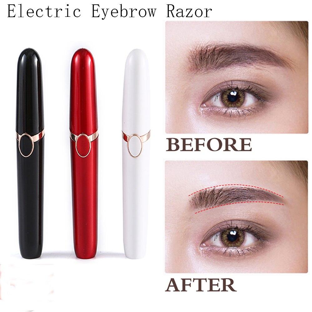 New Electric Eyebrow Trimmer Brows Pen Hair Remover Painless Multifunction Lipstick Eye Brow Razor Epilator Mini Shaver Razors