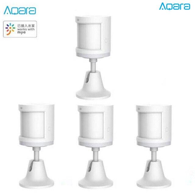 בתפזורת מכירה מעודכן Aqara אנושי גוף חיישן חכם גוף תנועת תנועת חיישן Zigbee חיבור עבור Mi בית App באמצעות אנדרואיד & IOS