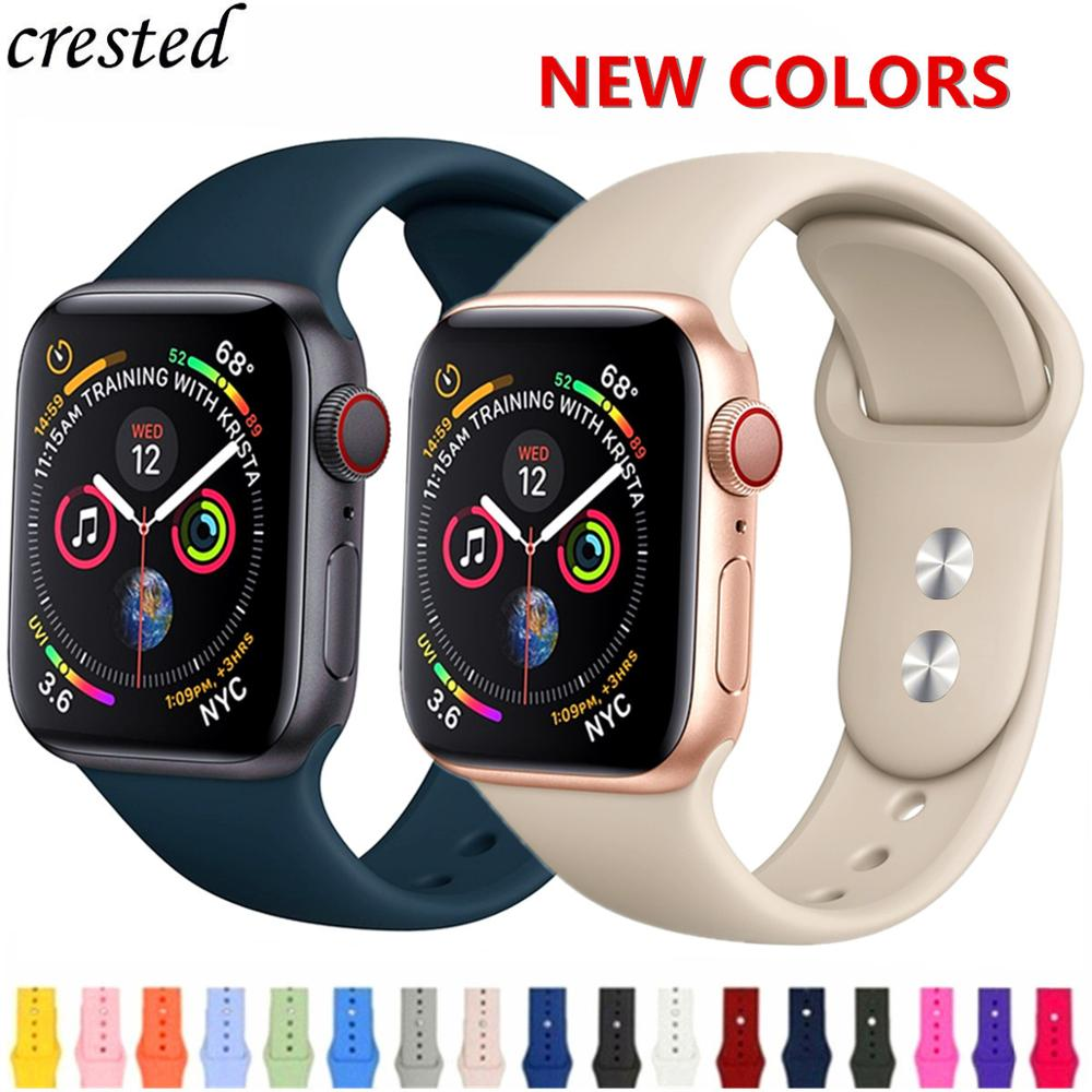Silicone Strap For Apple Watch Band 38mm 42mm Iwatch 4 Band 44mm/40mm Sport Bracelet Rubber Watchband For Apple Watch 4 5 3 2 1
