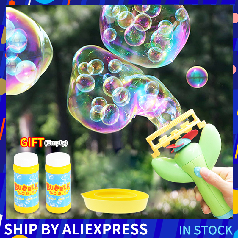 Electric Bubble Gun Toys Machine Automatic Bubble Water Gun Essential In Summer Outdoor Children Funny Magic Bubble Blowing Toy