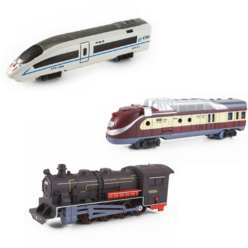 Large Electric Simulation Train Toy Electric Train Model Locomotive Architectural Sence Accessories