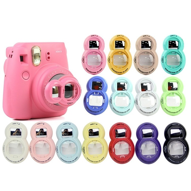 1PCs Close up Lens With Selfie Mirror Classic Design for Fujifilm Instax FUJI Instant Mini 9 7s 8 8plus Instant Photo Camera