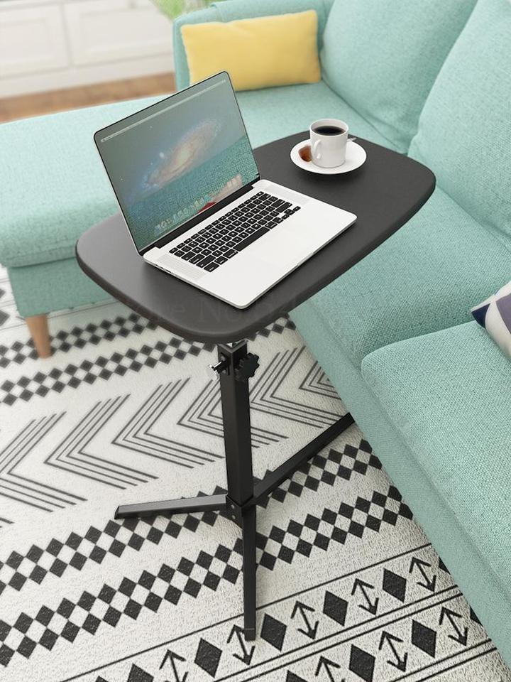 Computer Desk DICPOLIA Liftable Side Table Mobile Lazy Desk Simple Bedside Laptop Desk Removable Coffee Table Living Room Sofa End Table Modern Furniture for Home Office