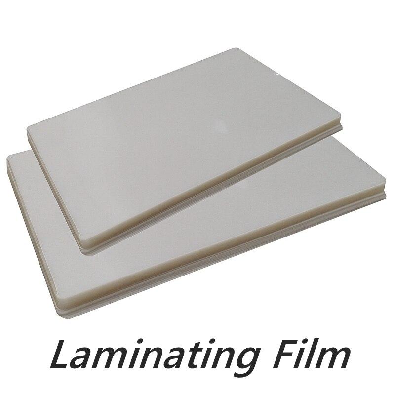 Tek katmanlı 50 mikron A4 boyut PVC şeffaf parlak 2Flap laminasyon kılıfı kalınlığı 100 mikron sıcak laminasyon superplastik film