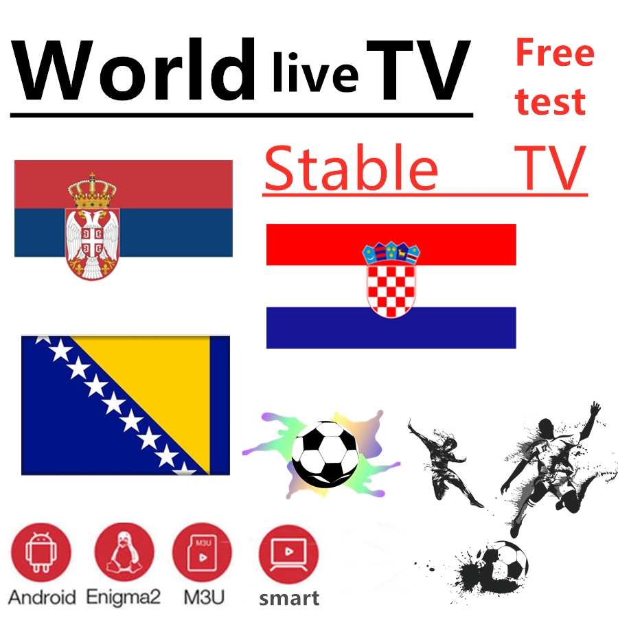 Monde TV bosnie croatie serbie TV 7000 + live gratuit VOD Support Android m3u enigma2 2000 + Vod