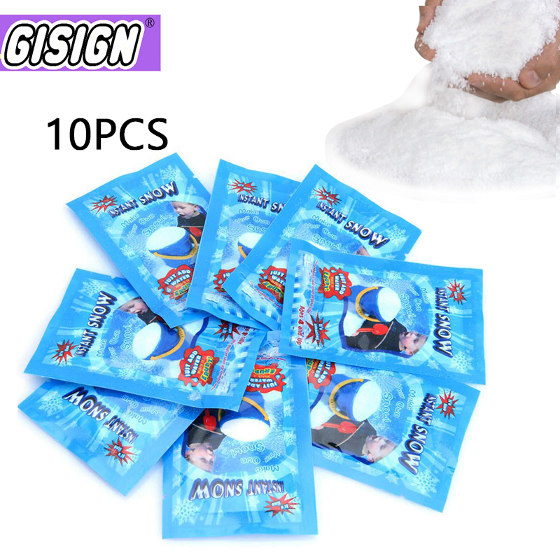 10pcs Additives Snow For Slime Magic Fake Instant Snow Make Slime Modeling Clay Cloud Powder Floam Mud Decorations Toys