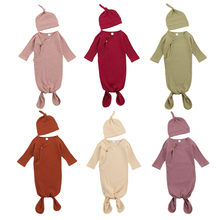 Outfits Blanket Sleeping-Bags Long-Sleeve Baby-Girls Winter Autumn Knit Solid 2pcs Hats
