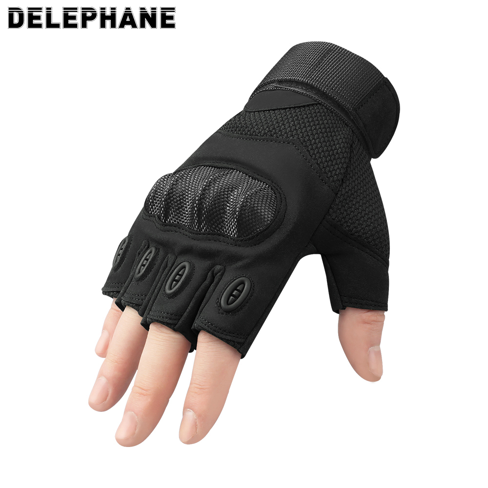Summer Men Tactical Gloves Fingerless Black Microfiber Half Finger Army Gloves Women Motorcycle Driving Cycling Riding Military