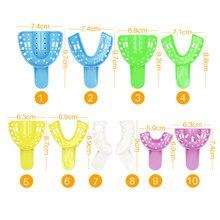 Plateau d'impression dentaire pour enfants, 10 pièces, plateau en plastique jetable, support de plateau de dents pour enfants, matériaux d'alimentation centrale dentaire