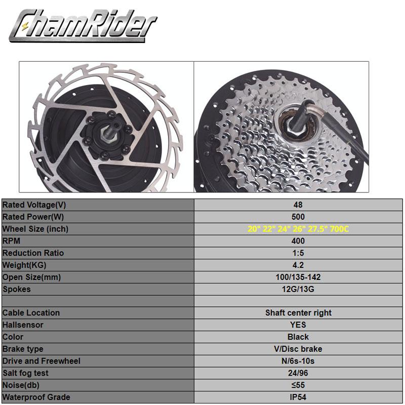 Image 2 - 48V 500W Ebike Electric Bike Conversion Kit BPM MX01C MX01F MX01R Geared Motor Wheel MXUS Front Rear Cassette Motor freehubelectric bike conversion kitelectric bike conversion48v 500w -