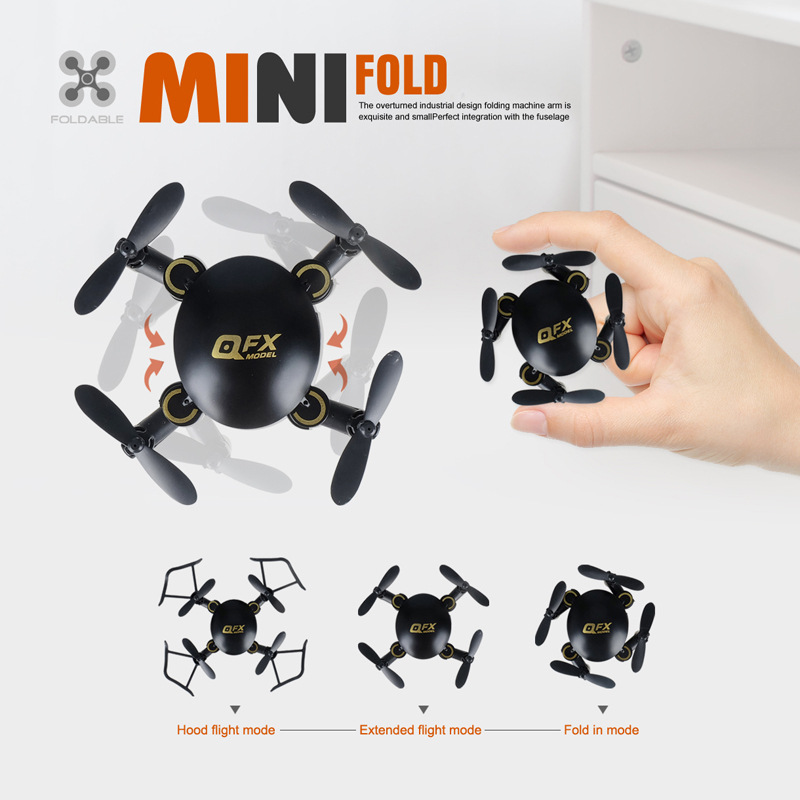 Toy Q2 Mini Folding Unmanned Aerial Vehicle Pocket Wifi Aerial Photography Set High Quadcopter Remote Control Small Plane|  -