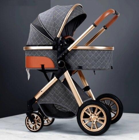 2021 novo carrinho de bebê 3 em 1 alta paisagem carrinho reclinável carrinho de bebê dobrável carrinho de bebê berço puchair recém-nascido 6