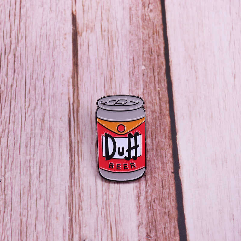 Lattine di Birra Spilla Pin Distintivo Birra Simpson Duff di Arte Zaino Decor Alcool Addict Regalo