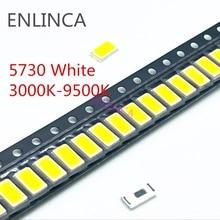 100Pcs 5730-CW WW 0.5W-150Ma 50-55lm White Light 3000K 4000K 6000K 95000K SMD 5730 5630 LED 5730 diodes  3.2 - 3.4V