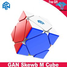 Gan skewb m magnético cubo mágico velocidade gan cubo stickerless inclinado ímãs concorrência de oblíquo magico cubo