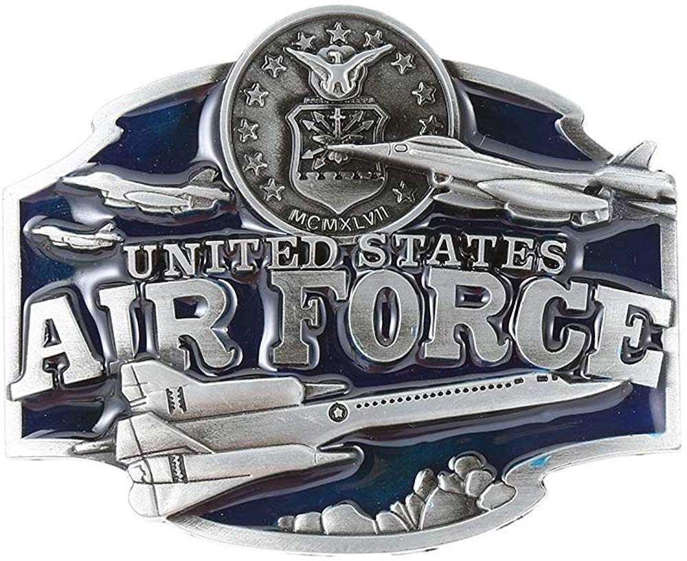 Air Force Belt Unite States Buckle For Man Western Cowboy Buckle Without Belt Custom Alloy Width 4cm
