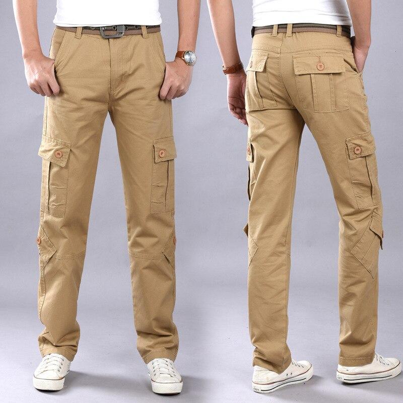 MEN'S Casual Pants Bib Overall Men's Trousers Athletic Pants Loose-Fit Straight-leg Pants Men's Autumn & Winter Trousers Work Pa