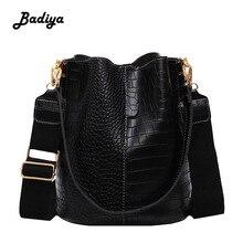 Moda balde bolsa feminina casual tote mensageiro saco de crocodilo padrão crossbody grande capacidade retro sacos de ombro feminino
