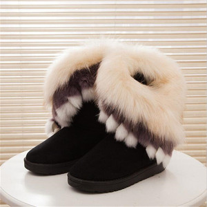 Women Flats Ankle Snow Boots F