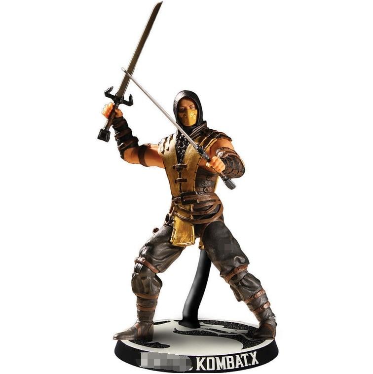 3.5inch 10cm Kombat Scorpion Raiden Sub-Zero Action Figure Doll Gift Box Package
