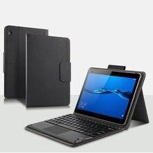 Bluetooth tastatur PU Ledertasche Für Huawei Mediapad M3 Lite 10 BAH W09 AL00 10,1 zoll Abdeckung Tablet Fall Schutzhülle Coque + stift