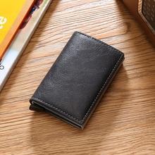 Wallets Short Business-Card-Holder Passport Purse Money-Bag Credit Automatic Women Q
