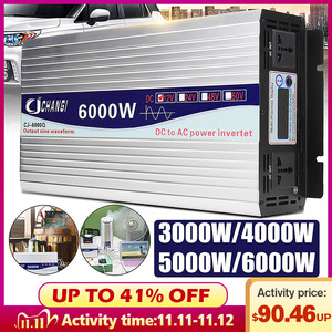 Inverter 12V 220V Intelligent Voltage transformer Pure Sine Wave Solar Power Inverter 12V/24V To 220V 3000W/4000W/5000W/6000W