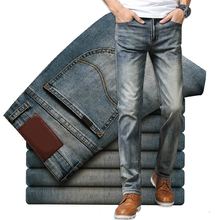 Brand Jeans Retro Nostalgia Straight Denim Jeans Men Fashion
