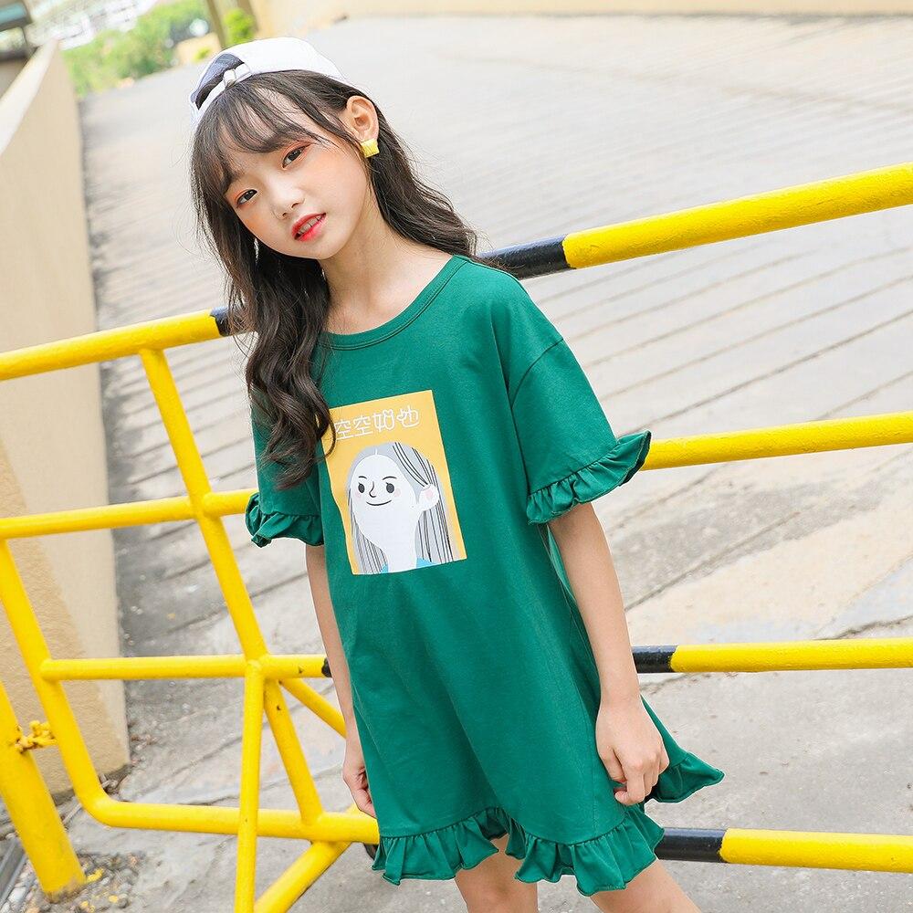 Новинка 2020 года; милые летние платья для девочек с героями мультфильмов; модные платья для маленьких девочек; детские летние платья для дево...