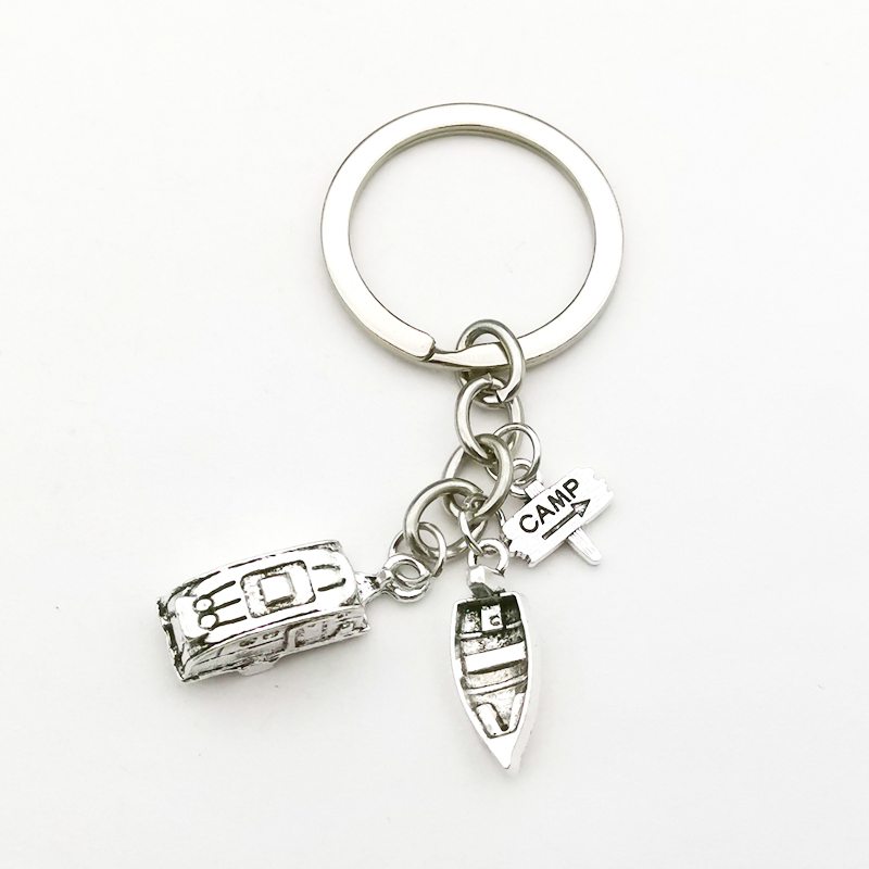 Camping KeyChain Happy Camper Key Chain Gift for Camper Gift for Friend