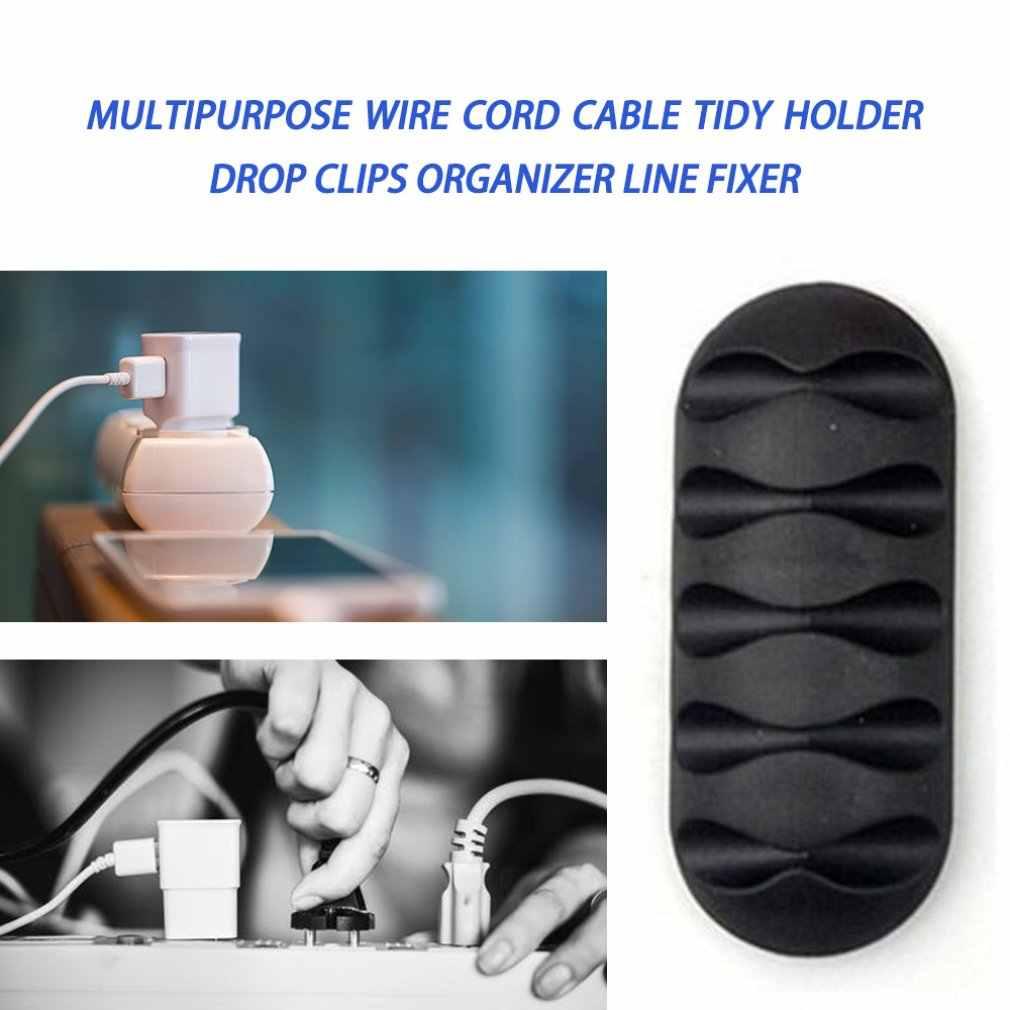 Digitale Kabel Houder Cord Kabel Tidy Holder Drop Clips Organizer Line Fixer Winder Kabel Draad Organisator Clip Netjes Cord Holder