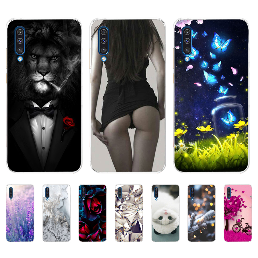 Case For Samsung Galaxy A50 A 50 Colorful Cat Printing Protective Cover Soft TPU Silicone Cases For Galaxy A50 Fundas Coque Capa