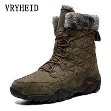 VRYHEID Brand Winter Warm Boots Men Outdoor High-top Plush F