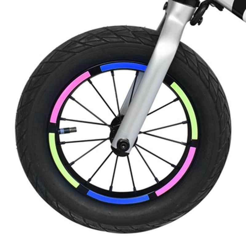 "REFLECTIVE CYCLE bike WHEEL RIM TAPE//STICKERS 15-20/""  7 COLOURS"