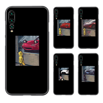JDM cars fashion Phone Case Cover Hull For Huawei P8 P9 P10 P20 P30 P40 Lite Pro Plus smart Z 2019 black cell cover art hoesjes image