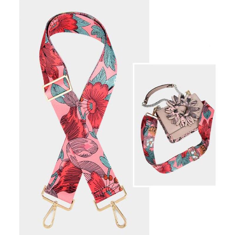 Fashion Printing Bag Straps Wide Handbag Shoulder Bag Belt Nylon Replacement Bags Accessories Bag Adjustable Belt For Bags 130cm