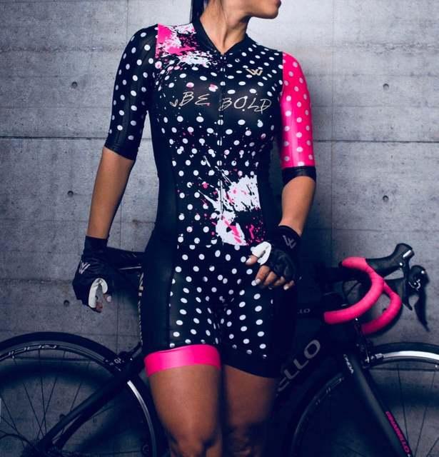 Triathlon terno roupas ciclismo conjuntos de corpo rosa roupa feminina macacão feminino triatlon kits 2