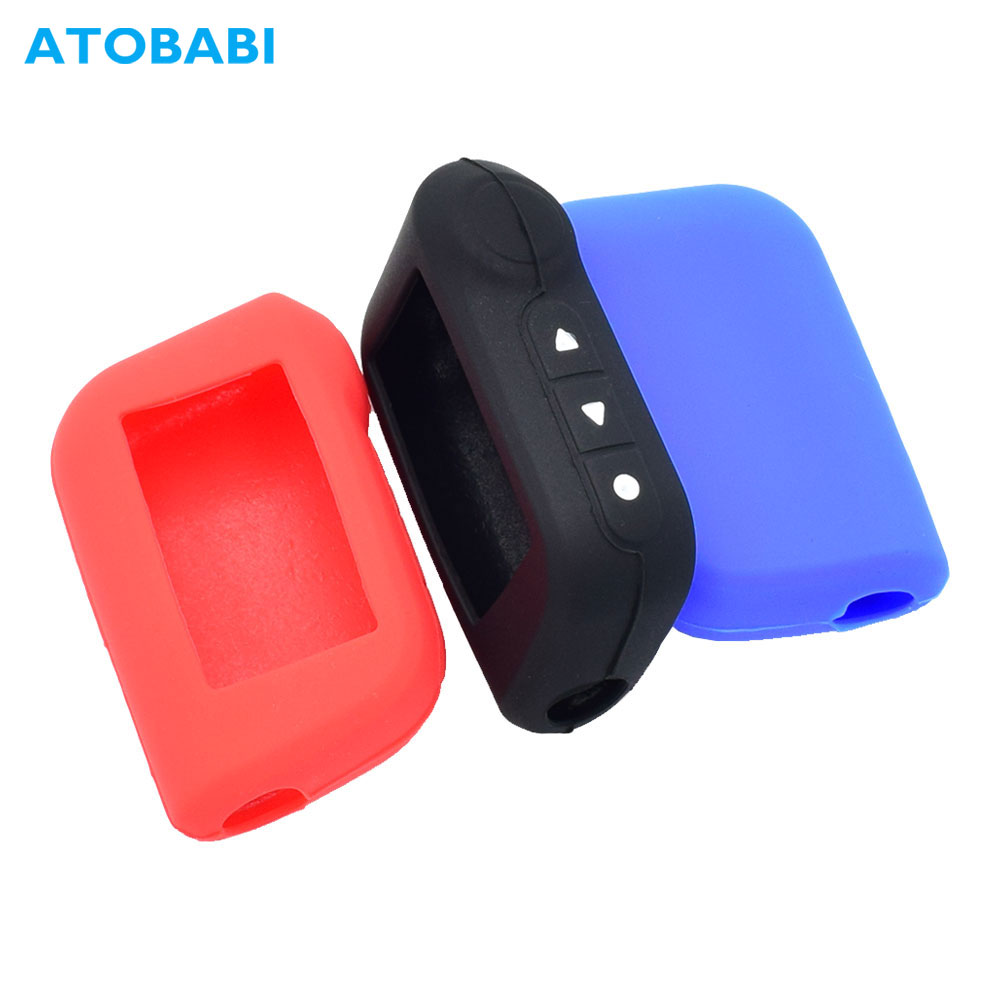 Silicone Car Key Case For Starline A93 A63 A36 A39 A66 A96 Two Way Car Alarm LCD Remote Control Protect Cover Skin Keychain Bag