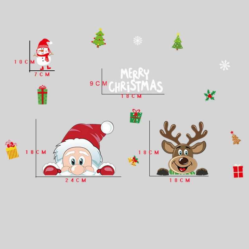 クリスマスウィンドウデカールサンタクローススノーフレークデカール冬の装飾ジャイアントウォールステッカークリスマス新年ウィンドウの装飾ホット